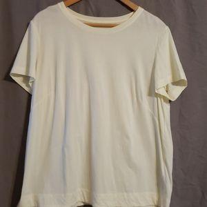 Lafayette 148 cream colored tshirt
